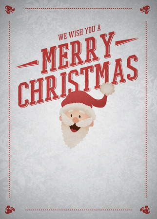 Christmas with Santa Claus advert poster or flyer background with empty space photo