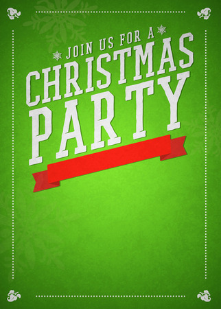 office party: Christmas party invitation poster or flyer background with empty space
