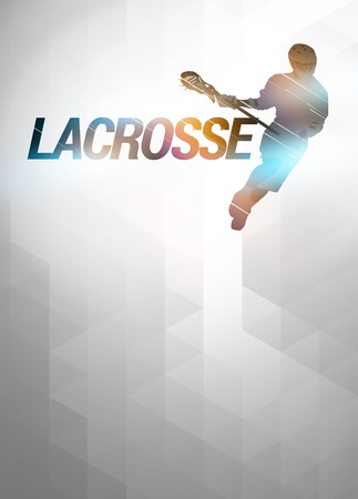 Lacrosse invitation advert poster or flyer background with empty space Stock Photo