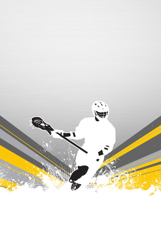 lacrosse: Lacrosse invitation advert poster or flyer background with empty space Stock Photo