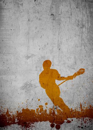 hockey sobre cesped: Lacrosse anuncio invitación cartel o fondo del aviador con el espacio vacío