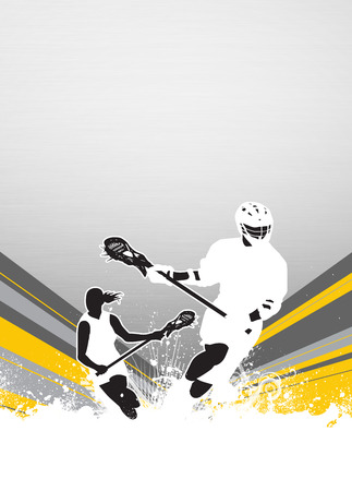 cradling: Lacrosse invitation advert poster or flyer background with empty space Stock Photo