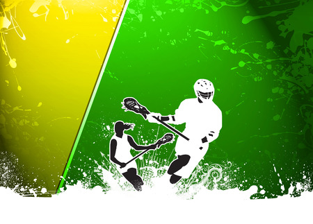 sport background: Lacrosse invitation advert poster or flyer background with empty space Stock Photo