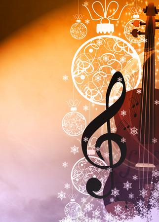 card background: Avvento o la musica di Natale annuncio concenrt manifesto o volantino sfondo con spazio vuoto