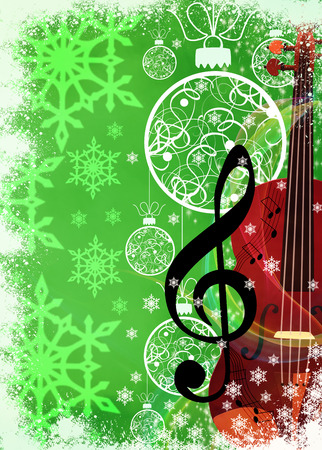 Advent or christmas music concenrt advert poster or flyer background with empty space photo