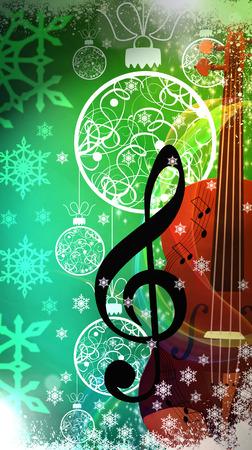 Advent or christmas music concenrt advert poster or flyer background with empty space