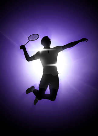 badminton racket: Badminton sport invitation poster or flyer background with empty space