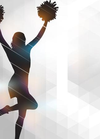 banni�re football: Cheerleader affiche invitation de l'annonce ou un flyer fond avec un espace vide