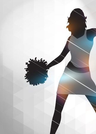 college football: Cheerleader invitation advert poster or flyer background with empty space