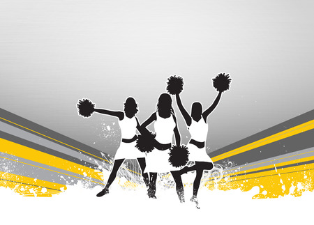 pom pom: Cheerleader invitation advert poster or flyer background with empty space