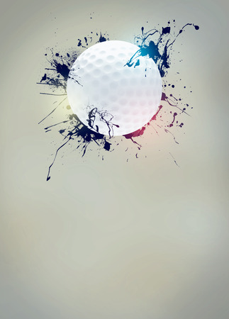 Abstract golf sport invitation poster or flyer background with empty space photo