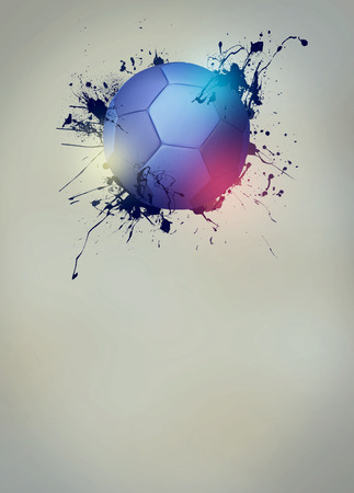 handball: Abstract handball sport invitation poster or flyer background with empty space Stock Photo