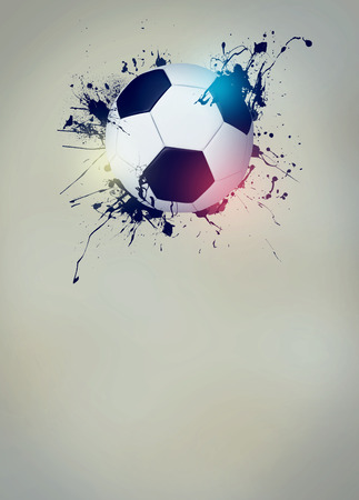 dirty football: Abstract soccer or football sport invitation poster or flyer background with empty space
