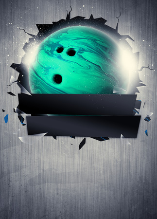 Abstract bowling sport invitation poster or flyer background with empty space