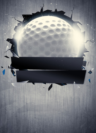 Abstract golf sport invitation poster or flyer background with empty space Banco de Imagens