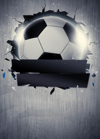 抽象的なサッカーまたはフットボール スポーツ招待状ポスターやチラシの背景の空スペースで