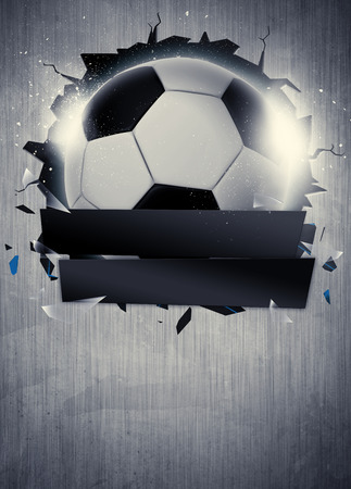 Abstrakt Fußball oder Fußball Sport Einladungsplakat oder Flyer Hintergrund mit leeren Raum