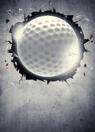 抽象的なゴルフ スポーツ招待ポスターやチラシ背景の空スペースで