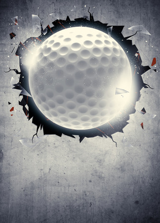 Abstract golf sport invitation poster or flyer background with empty space Archivio Fotografico