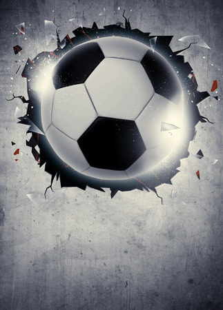 banni�re football: Soccer poster ou une invitation du sport de football abstraite ou fond d�pliant avec un espace vide Banque d'images