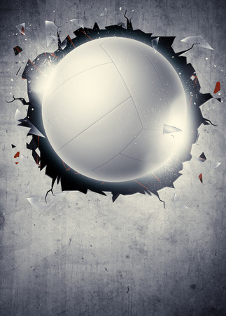 flyer background: Abstract volleyball sport invitation poster or flyer background with empty space Stock Photo