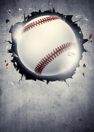 baseball: Cartel abstracto del b�isbol deporte invitaci�n o fondo del aviador con el espacio vac�o Foto de archivo