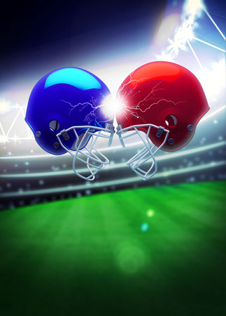 bannière football: American football sport invitation poster or flyer background with empty space Banque d'images