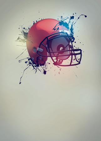 Affiche d'invitation sportive de football américain ou de fond dépliant avec un espace vide