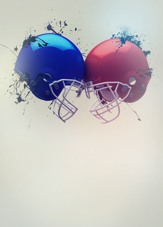 rival rivals rivalry season: American football sport invitation poster or flyer background with empty space Stock Photo