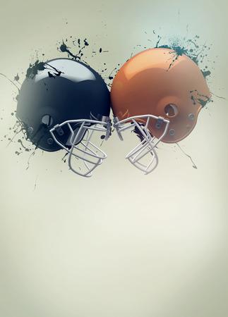 banni�re football: Affiche d'invitation sportive de football am�ricain ou de fond d�pliant avec un espace vide Banque d'images