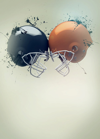 super bowl: American football sport invitation poster or flyer background with empty space Stock Photo