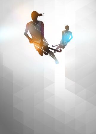 Hockey sport uitnodiging poster of flyer achtergrond met lege ruimte Stockfoto