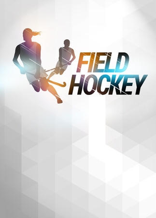 hockey: Field hockey sport invitation poster or flyer background with empty space