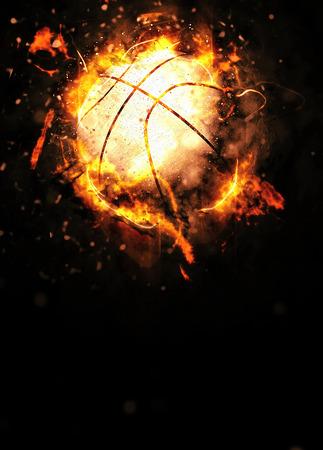 Cartel deporte del baloncesto o fondo del aviador con el espacio Foto de archivo