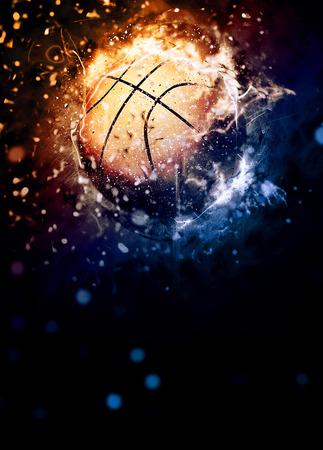 deporte: Cartel deporte del baloncesto o fondo del aviador con el espacio Foto de archivo