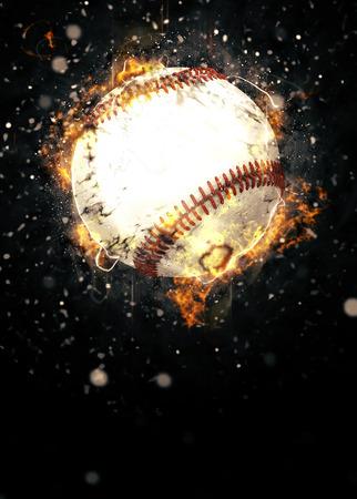 抽象的な野球スポーツ招待ポスターやチラシの背景に空の空間