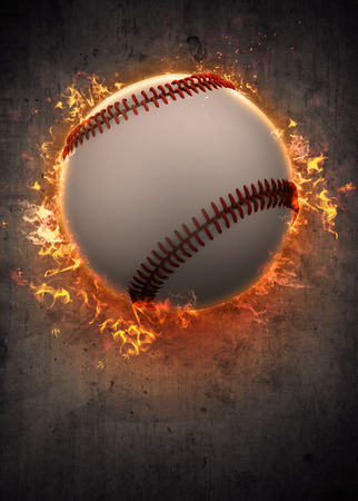 pelota beisbol: Cartel abstracto del béisbol deporte invitación o fondo del aviador con el espacio vacío Foto de archivo