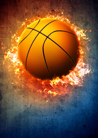 basketball tournaments: Basketball sport poster or flyer background with space Stock Photo