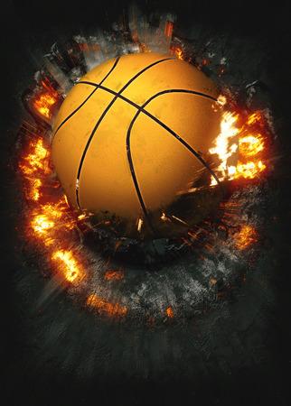 バスケット ボール スポーツ ポスターやチラシの背景領域と 写真素材