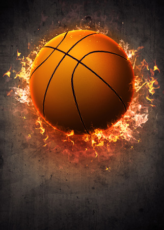 Basketbal sport poster of flyer achtergrond met ruimte Stockfoto