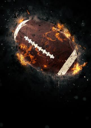 bannière football: Affiche sportive de football américain ou de fond dépliant avec l'espace