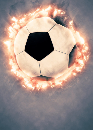 ball lightning: Soccer or football sport poster or flyer background with space Stock Photo