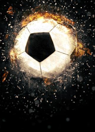 bannière football: Football ou le sport de football affiche ou dépliant fond avec l'espace
