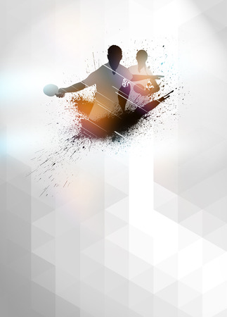Abstract table tennis invitation poster or flyer background with empty space