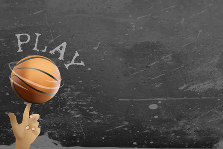 match: Basketball and streetball poster or flyer background with space
