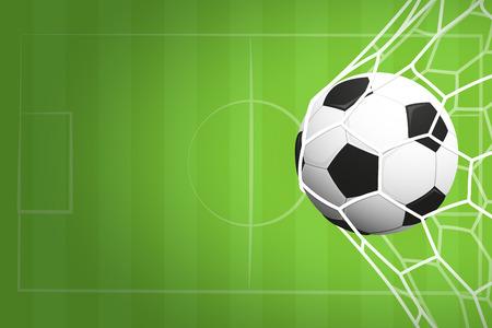 Abstracte voetbal of voetbal sportuitnodiging poster of flyer achtergrond met lege ruimte Stockfoto