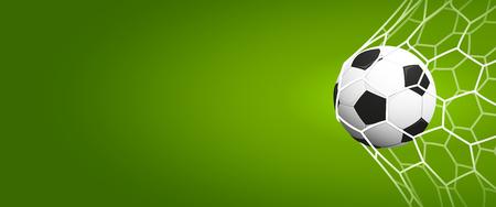 bannière football: Affiche de football ou une invitation du sport de football Résumé ou fond dépliant avec un espace vide