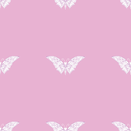 patern: butterfly decorative patern on a gentle pink romantic spring summer background