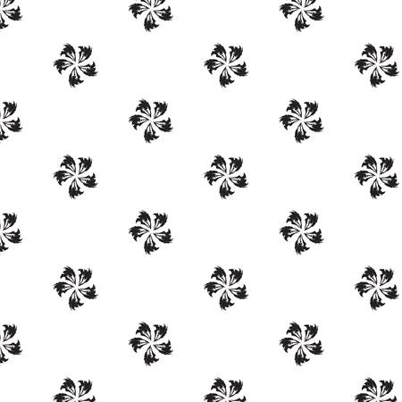 Fleurs noires motif synthétique abstrait