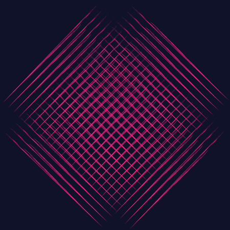 pink cell: abstract modernist style graphics bright pink cell on dark blue background isolated design element